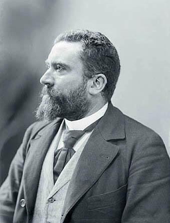 Retrato de Jean Jaurès por el fotógrafo Nadar, en 1898.