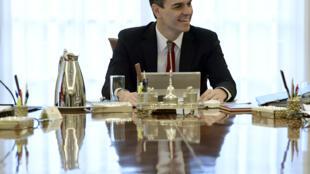 Le nouveau chef du gouvernement espagnol, le socialiste Pedro Sanchez.