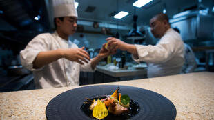 Stephane Liu, chef du restaurant gastronomique «Paris rouge» à Shanghaï participe à la deuxième édition «Goût de France-Good France»,