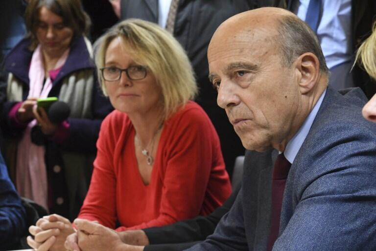 Alain Juppé with Claude Chirac, daughter of former president Jacques Chirac