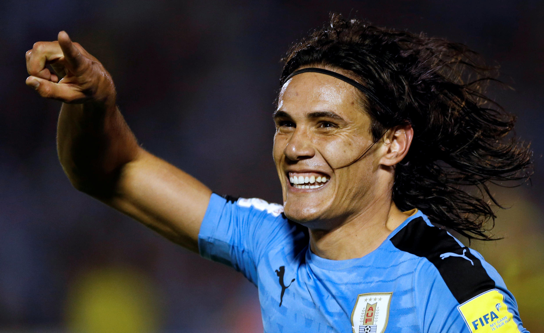 Edinson Cavani has scored four goals for Uruguay in two games.