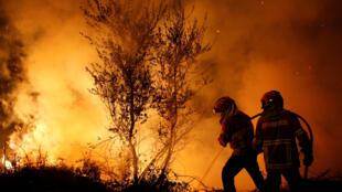Em pleno outono, incêndios retomaram com força no centro e norte de Portugal, como em Cabanoes.