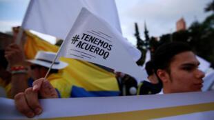 Manifestación por un nuevo acuerdo de paz con las FARC. Bogotá, 15 de noviembre de 2016.