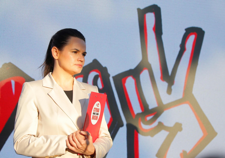 Светлана Тихановская, женщина, неожиданно ставшая главной конкуренткой Лукашенко на этих выборах.