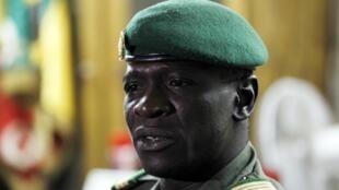 Le capitaine Sanogo meneur du coup d'Etat militaire du 22 mars 2012, ici le 7 avril 2012, à Kati.