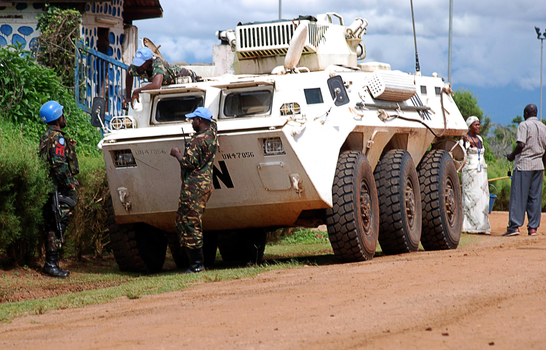 Askari wa MONUSCO, Oktoba 23,  2014 Beni, DRC.