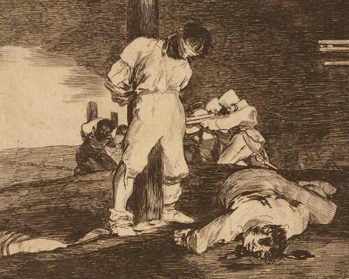 Бедствия войны, 1810 - 1811, офорт, Франциско Гойя