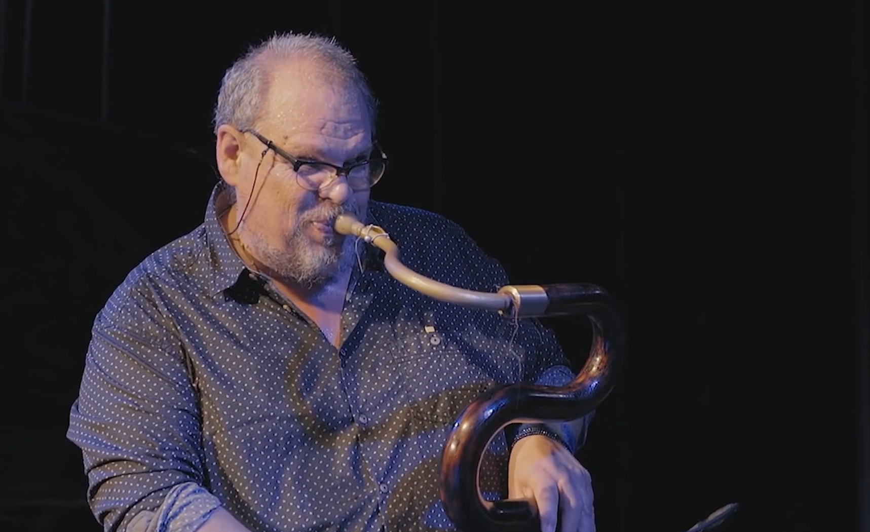 Michel Godard performing at Morgenland festival, Germany, in  2016
