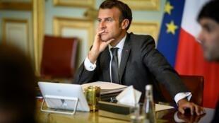 2020-06-23 French President Emmanuel Macron elysee palace