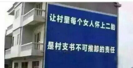图为中国各地新出现的鼓励二胎宣传标语