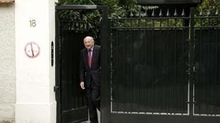 Georges Kiejman, lawyer for Liliane Bettencourt, leaves her home in Neuilly-sur-Seine