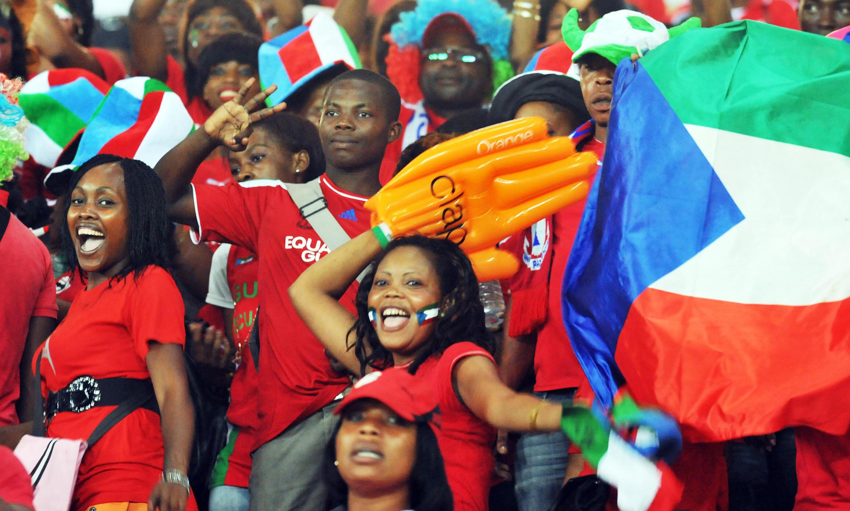 Des supporters équato-guinéens lors de la CAN 2012.