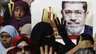 Simpatizantes de los Hermanos Musulmanes protestan frente el ministerio de Interior, el 1 de noviembre de 2013.