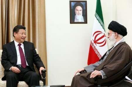中國國家主席習近平2016年1月23日在德黑蘭會晤伊朗精神領袖哈梅內伊。