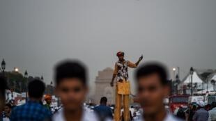 Une rue de New Delhi (Photo d'illustration).