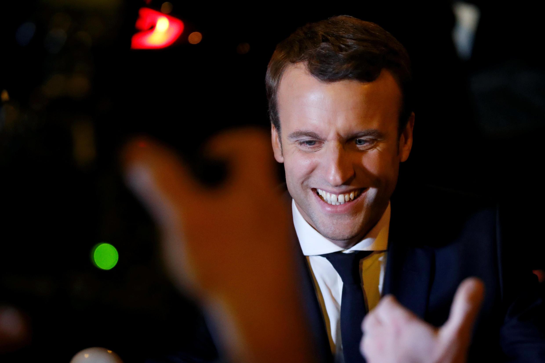Emmanuel Macron, arrivé en tête au premier tour de l'élection présidentielle devant Marine Le Pen, le 23 avril 2017.