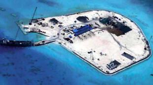 Ảnh bãi Gạc Ma (Johnson South Reef), Trung Quốc gọi là Xích Qua Tiều (Chigua Jiao), chụp ngày 29/07/2014.