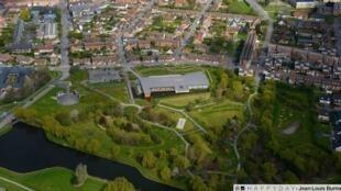Vista aérea da cidade de Grande-Synthe.