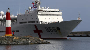 Navio Arco da Paz está atracado em Guaíra, a cerca de 30 km de Caracas