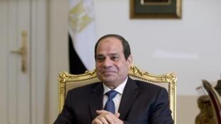 Le président égyptien Abdel Fattah al-Sissi au palais présidentiel, au Caire, le 27 octobre 2014.