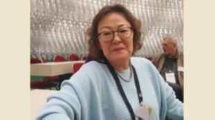 Sukhgerel Dugersuren, la directrice d'Oyu Tolgoï Watch, une ONG qui vient en aide aux populations nomades du désert de Gobi.