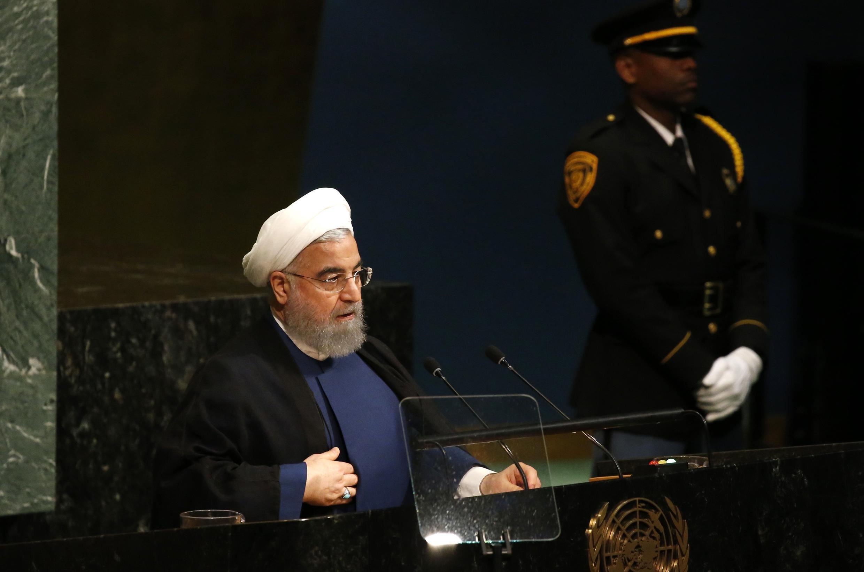 Tổng thống Iran Hassan Rohani phát biểu tại Đại hội đồng LHQ ngày 20/09/2017.