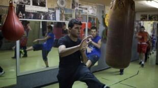 Session d'entraînement au sein du Jerusalem Boxing Club, à Jérusalem-Ouest.