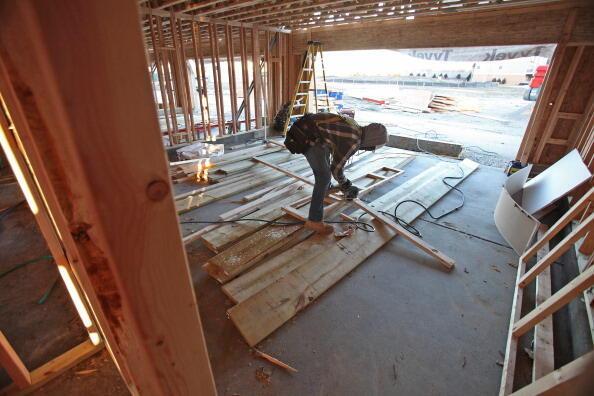 Construction d'un bâtiment, dans l'Illinois, le 14 janvier 2013.