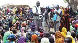 Refugiados no campo de Maratane, em Moçambique