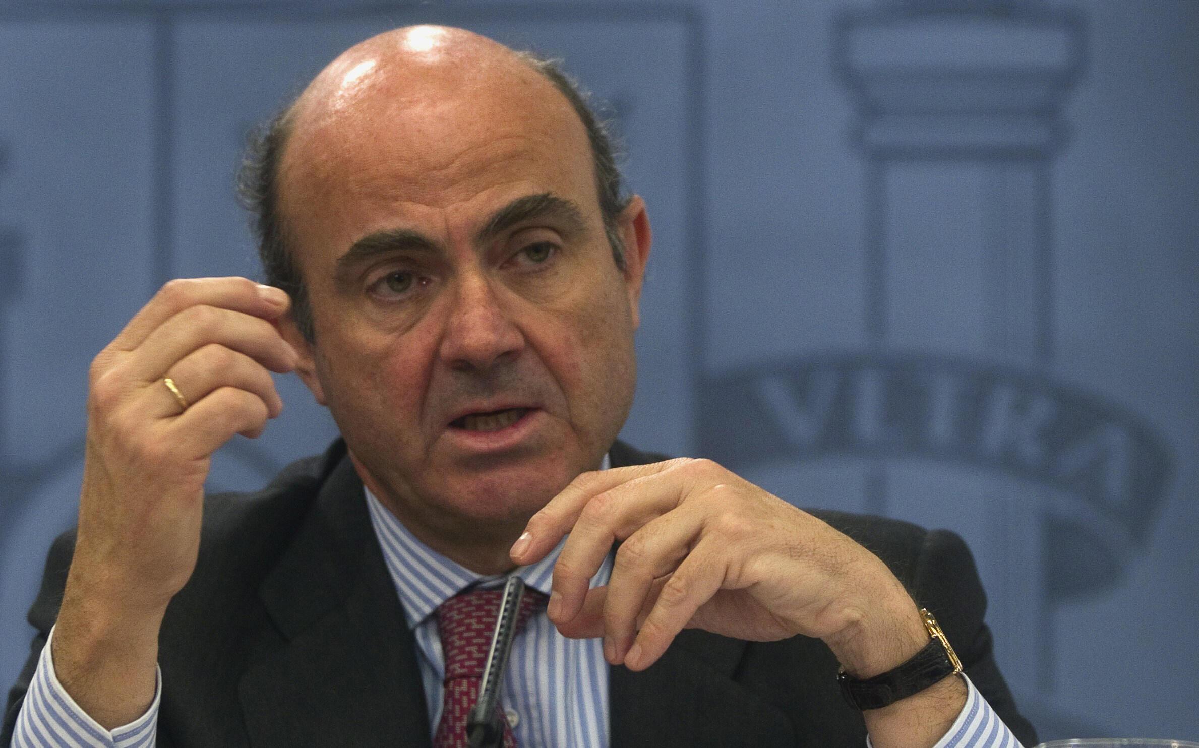 El ministro de Finanzas español Luis de Guindos.