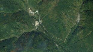 Địa điểm thử hạt nhân Kilju, miền đông bắc Bắc Triều Tiên. Ảnh vệ tinh năm 2006.