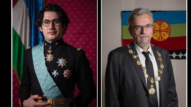 Los pretendientes al trono de la Araucanía y la Patagonia, Estanislao I (izq.) y Federico I (der.).