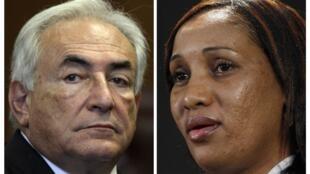 Le procureur de Manhattan demande l'abandon de toutes les charges contre DSK (g) accusé de viol par Nafissatou Diallo, la femme de chambre du Sofitel de New York, le 14 mai 2011.