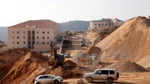 Un chantier à Betar Illit, colonie israélienne en Cisjordanie occupée, le 22 décembre 2016.