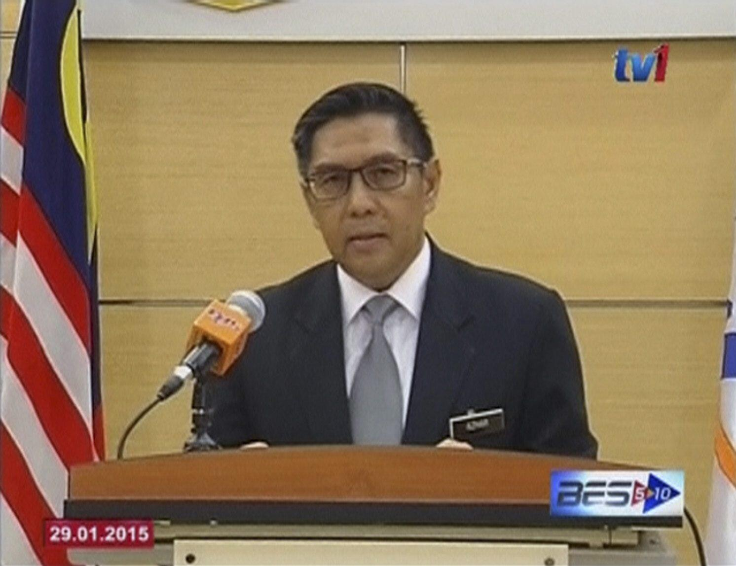 Le chef de l'aviation civile malaisienne, Azharuddin Abdul Rahman, a déclaré à la télévision que  la disparition mystérieuse du vol MH370 en mars 2014 était un «accident».