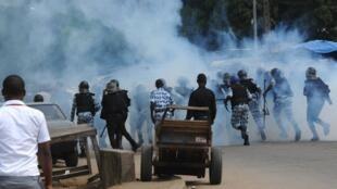 'Yan sandan Cote d'Ivoire suna arangama da magoya bayan tsohon shugaba laurent Gbagbo a Abidjan