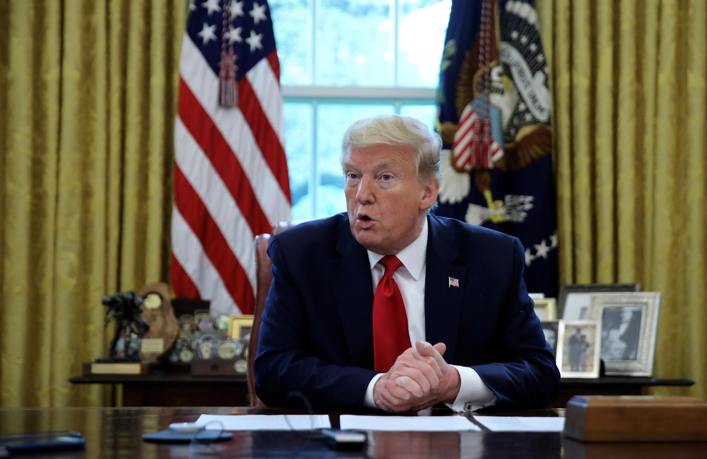 Tổng thống Mỹ Donald Trump trả lời Reuters tại Nhà Trắng ngày 29/04/2020 về Trung Quốc và virus corona.