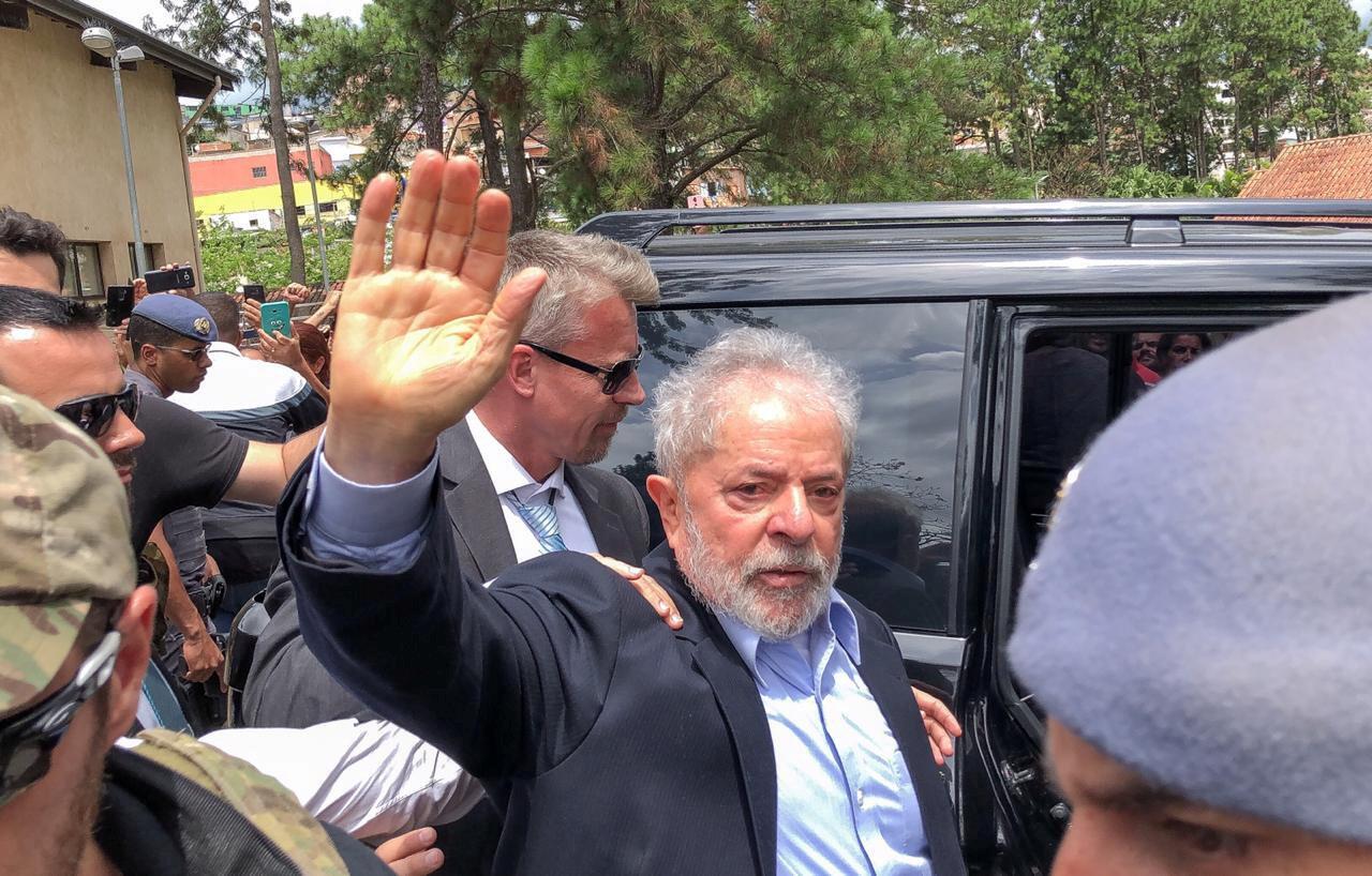 Lula en el funeral de su nieto, el 2 de marzo de 2019.