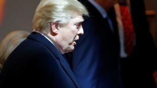 1月25日赶来瑞士出席达沃斯论坛的美国总统特朗普