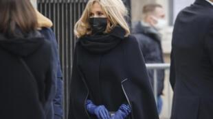 Brigitte Macron, esposa do presidente francês, teve sintomas leves do coronavírus. (08/01/2020).