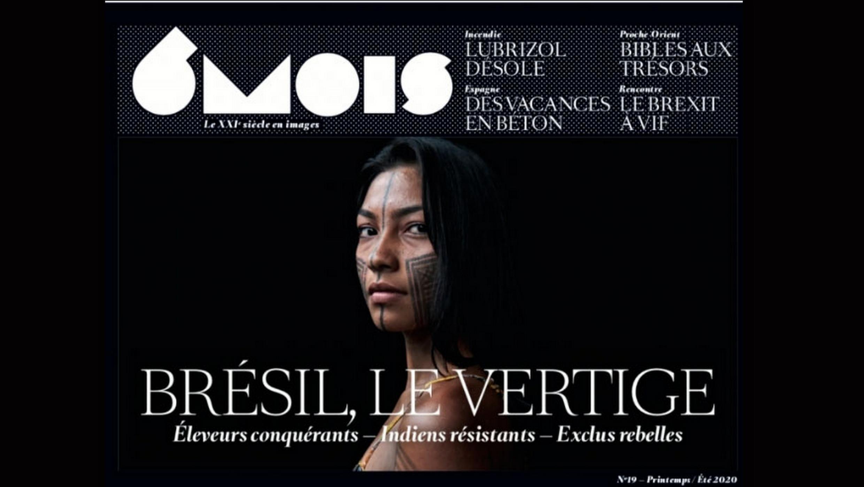Capa da revista bianual 6Mois, que traz três reportagens fotográficas sobre o Brasil