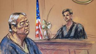 何志平在纽约法庭出庭 2019 3 15