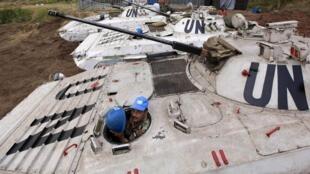 Forces des Nations unies dans la région de Goma, le 23 juillet 2012.