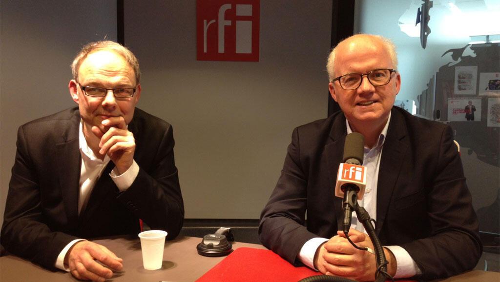 Christian-Georges Schwentzel et Pierre-Edouard Deldique à RFI.