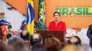 Dilma durante lançamento do pacote de concessões, na terça-feira.