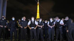 Manifestação Policia França 000_1TG3QJ
