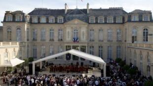 França terá primeiro show de música eletrônica no Eliseu o palácio presidencial. Foto do 21/0614