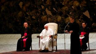 O papa Francisco, na audiência-geral desta quarta-feira (4) no Vaticano.