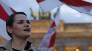 Biélorussie - Svetlana Tikhanovskaya - AFP - Carrefour de l'Europe - 000_8RG6AC