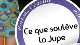 Campanha contra o machismo em Nantes, oeste da França, pedindo para que os meninos usem, nesta sexta-feira, 16, uma saia.